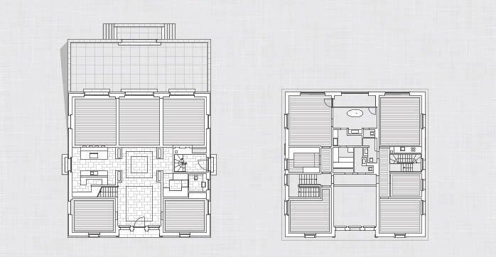 Erdgeschoss und Obergeschoss